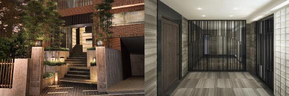 パークヒル芝 リノベーション 外観・エレベーターホールAFTER